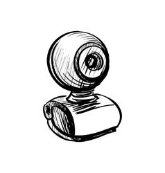 doodle web cam vector image