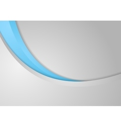 Abstract corporate blue grey wavy background vector