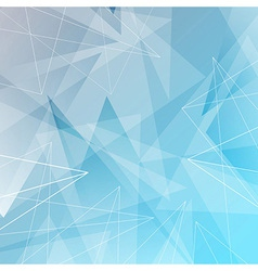 Abstract triangles and lines blue background vector image vector image