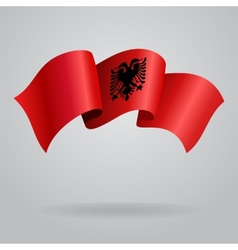 Albanian waving flag vector