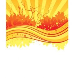 back autumn vector image