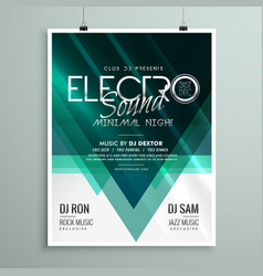 Beautiful electro club party flyer template design vector