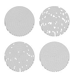 Black isolated fingerprint vector
