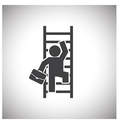 Businessman Climbing Ladder vector image vector image