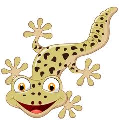 Cartoon smiling gecko vector