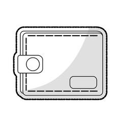 closed wallet icon image vector image