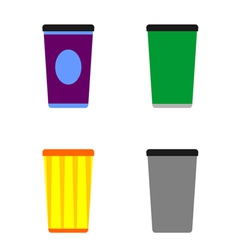 colorful tumblers vector image vector image