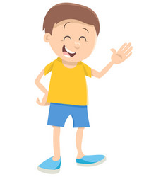 Cute boy cartoon character vector
