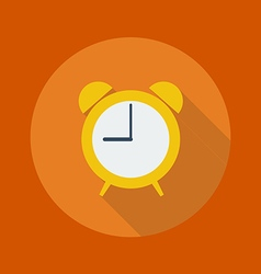 Education flat icon clock vector