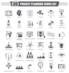 finance business Project planning black vector image vector image