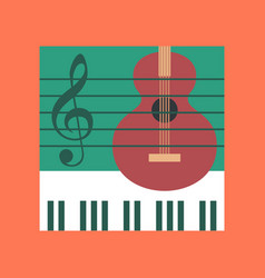 Flat icon on stylish background music lesson vector