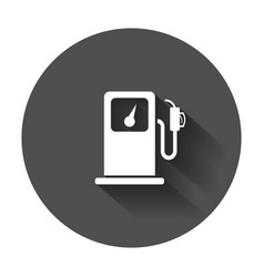 Fuel gas station icon in flat style car petrol vector