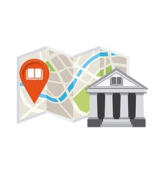 gps icon design vector image