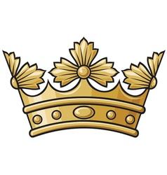 heraldic crown vector image vector image