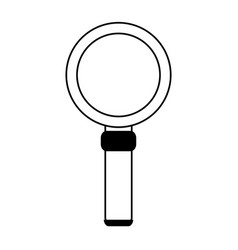 Magnifying glass looking for objects vector