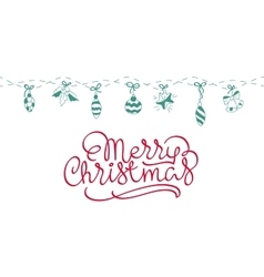 Merry Christmas background art vector image