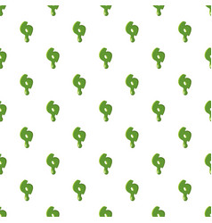 Numder 6 made of green slime vector