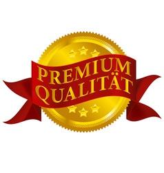 premium quality seal german version vector image
