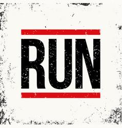 running sportswear emblem athletic apparel design vector image