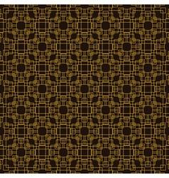 seamless pattern Golden decorative design template vector image vector image