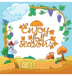Season landscape vector