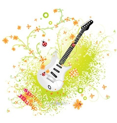 Spring Guitar Icon vector image