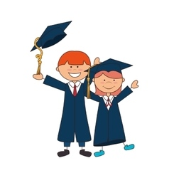 Student graduation uniform icon vector