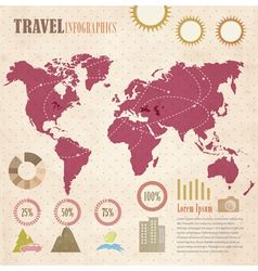 Travel info graphic vector image vector image