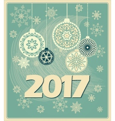 Vintage new year card 2017 vector