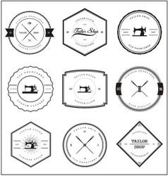 Vintage tailor shop badges vector