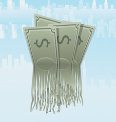 Wasting Money vector image