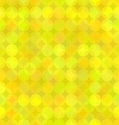 Yellow geometric background from rounds vector