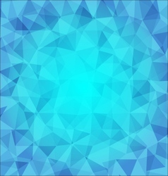 abstract poligonal background in blue tones vector image