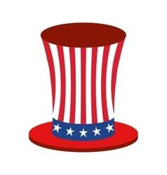 united states of america hat emblem vector image