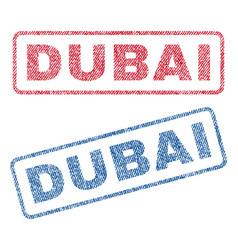 Dubai textile stamps vector