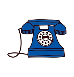 A view of dial telephone vector image