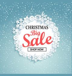 Concept of christmas big sale vector
