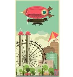 Carnival city park vector