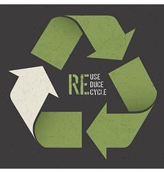 Reuse poster textured paper vector