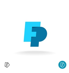 F and p letters logo vector