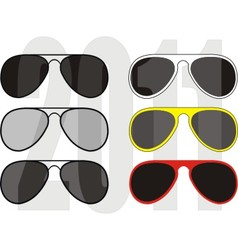 fashionable sunglasses vector image
