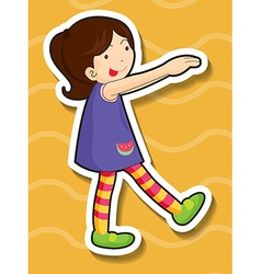 Little girl doing silly pose vector