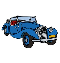 Vintage blue cabriolet vector image
