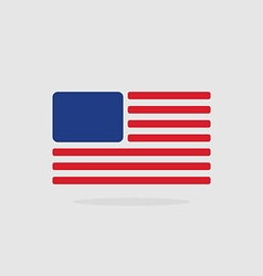 Usa flag stylized american flag of geometrical vector