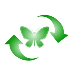Butterfly recycle symbol vector