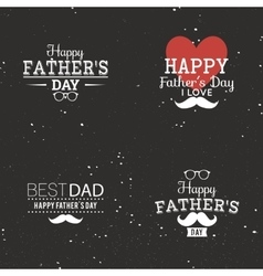 Father day labels vector