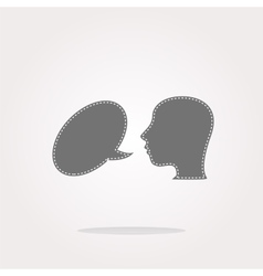 Human head with speech bubble icon web vector