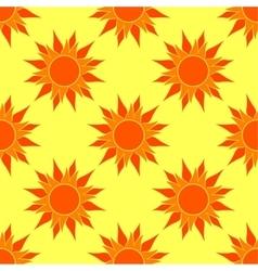 Sunny orange seamless pattern vector