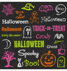 Halloween hand-drawn elements vector