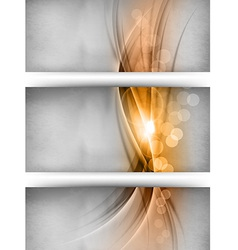 Abstract three card gold vector